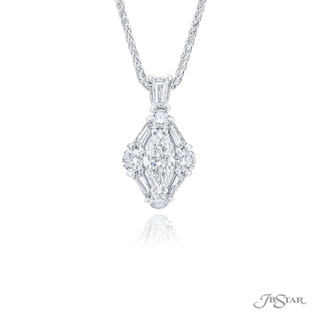 7313-016 | Diamond Pendant 0.71 ct. Marquise Cut GIA Certified