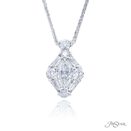 7313-019 | Diamond Pendant Marquise Center 0.60 ct. GIA Certified