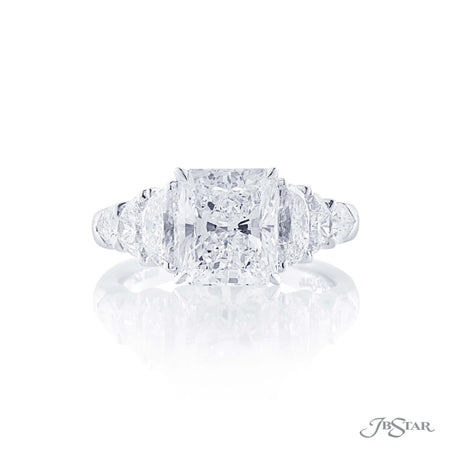 3.03 ct Platinum Radiant Cut Diamond Engagement Ring