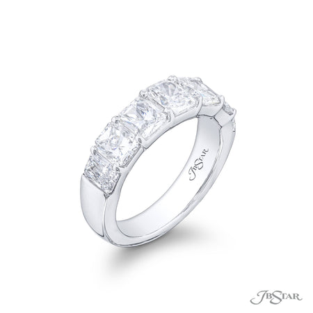 7349-002 | Diamond Band Radiant-cut 3.40 ctw. Shared Prong Side View