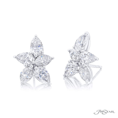 7354-005 | Diamond Earrings Pear-Shaped & Marquise 4.44 ctw.