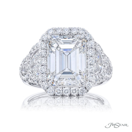 5.02 ct Platinum Radiant Cut Diamond Engagement Ring