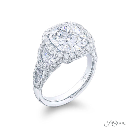 4.72 ct Platinum Cushion Cut Diamond Engagement Ring