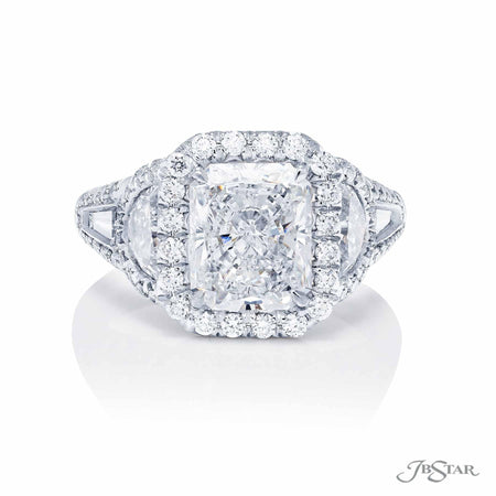 3.07 ct Platinum Radiant Cut Diamond Engagement Ring