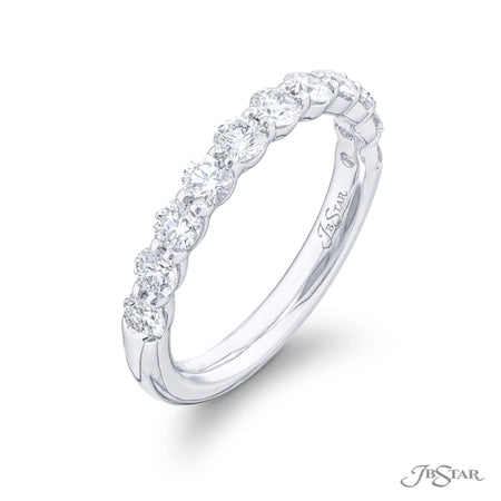 7401-039 | Diamond Wedding Band 1.07 ctw. Round Cut Shared Prong Side View