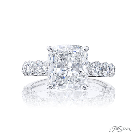 7401-041 | Diamond Engagement Ring 3.73 ct. Cushion-Cut GIA Certified Front View