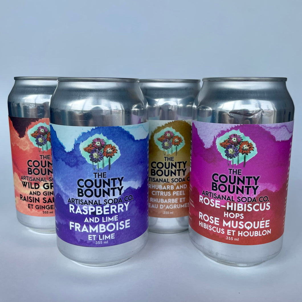 County Bounty Soda 12-pack