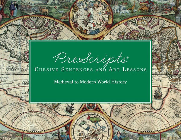 PreScripts® Cursive Sentences: Medieval to Modern World History