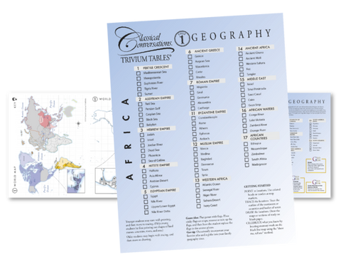 Trivium Tables®: Geography, Cycle 1