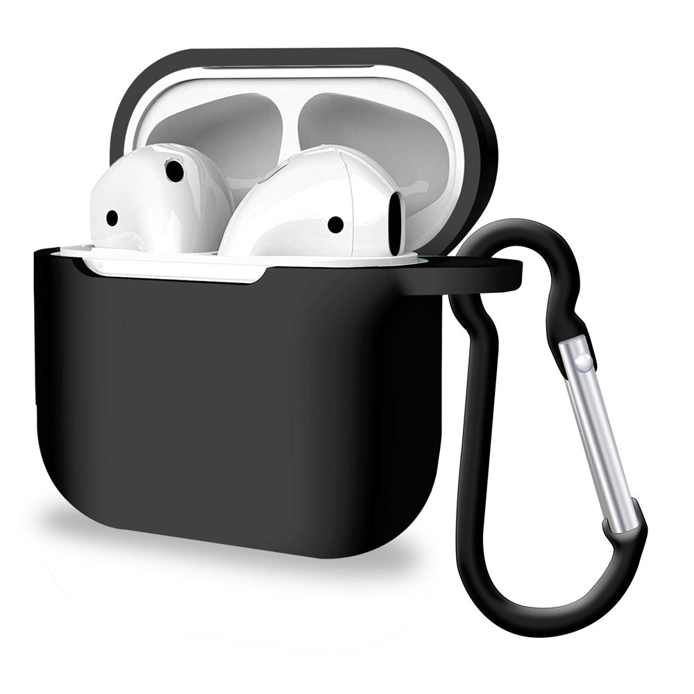 Silicone Airpods Pro Case Cover Black, Audio Accessories by iSOUL