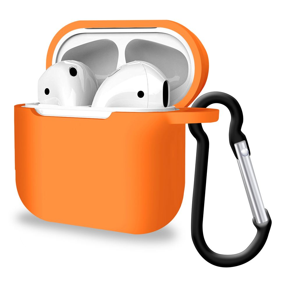 Premium Silicone Orange Airpods Pro Cover Case, Headphone & Headset Accessories by iSOUL