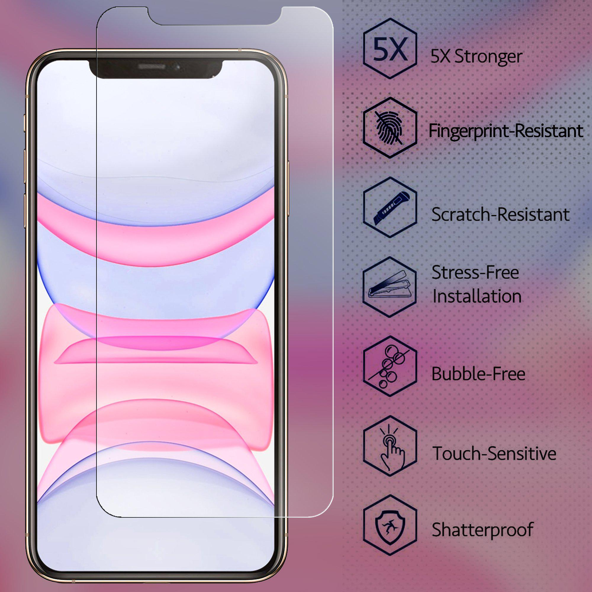 Conber Shatterproof Scratch-Resistant Tempered Glass Film Screen Protector for iPhone SE 2020 // iPhone SE 2nd Generation 2 Pack Screen Protector for iPhone SE 2020 // iPhone SE 2nd Generation