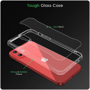 iSoul iPhone 12 Mini Case acrylic back soft TPU bumper around Silicone