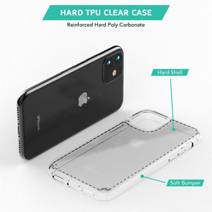 Best Hard Back Case with Clear soft Bumper around Edges for iPhone 11 - TradeNRG UK