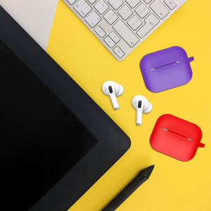 Silicone Airpods Pro Case Cover Black - iSOUL