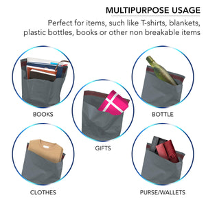 100 Mixed Grey Mailing Poly Postal Self Seal Bags 4 Sizes 25 from Each iSOUL Small to Large Mailing Bags Postage Packaging Assorted Mailers Posting Shipping Post Parcel Package Bags - iSOUL