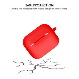 Silicone Wash-Proof Red Airpods Pro Cover Case - iSOUL