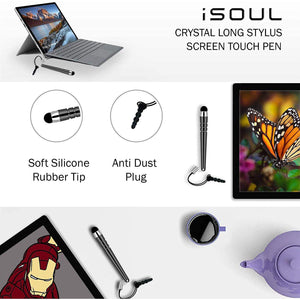 iSOUL PREMIUM QUALITY 10 PACK STYLUS TOUCH PEN WITH ANTI-DUST PLUG CAP - iSOUL