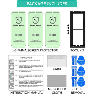 "ISOUL Screen Protector for Samsung Galaxy S20 6.2"" PMMA Nano Material"