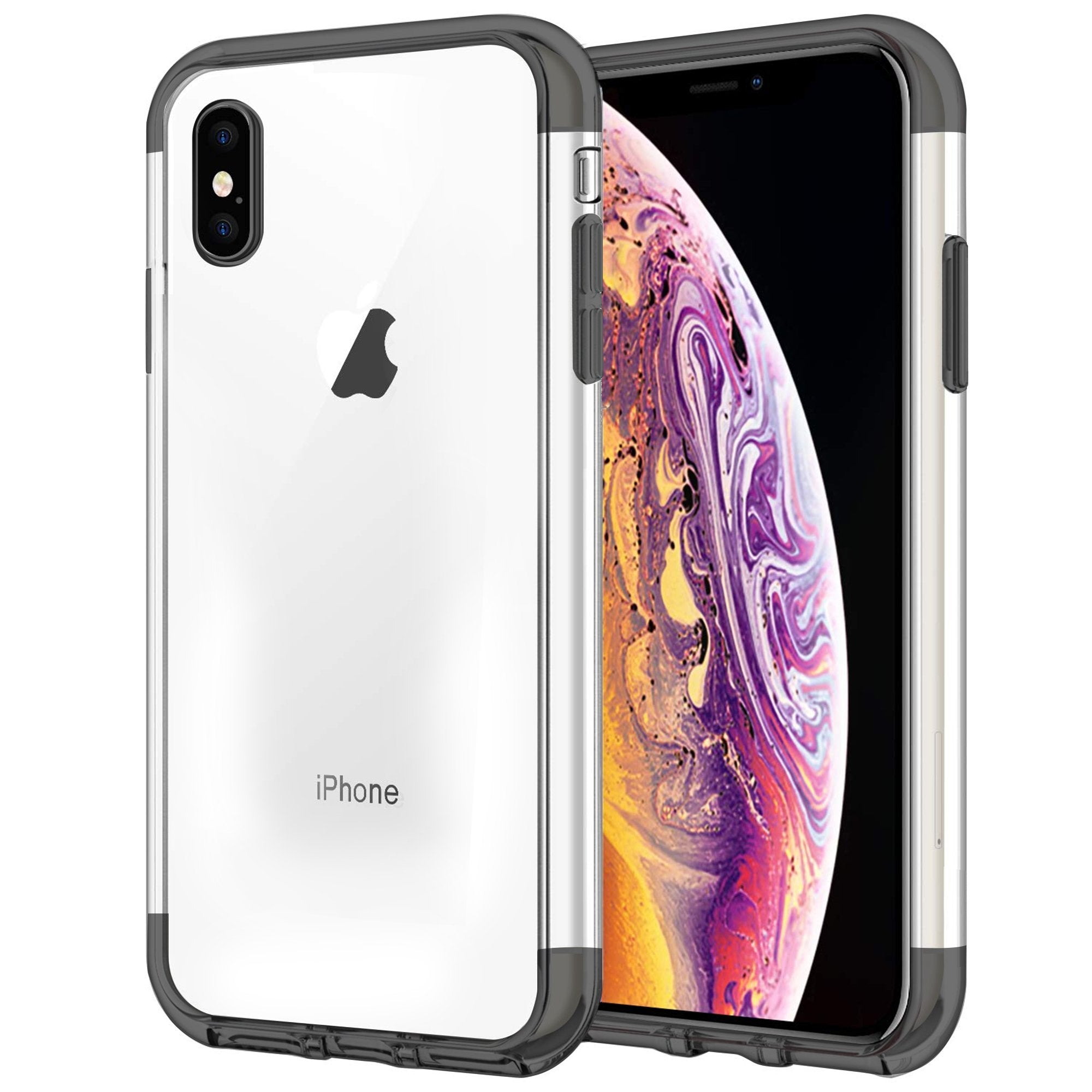 Case for iPhone XS Shock Proof Soft TPU Silicone Phone Clear Slim Cover by  iSOUL