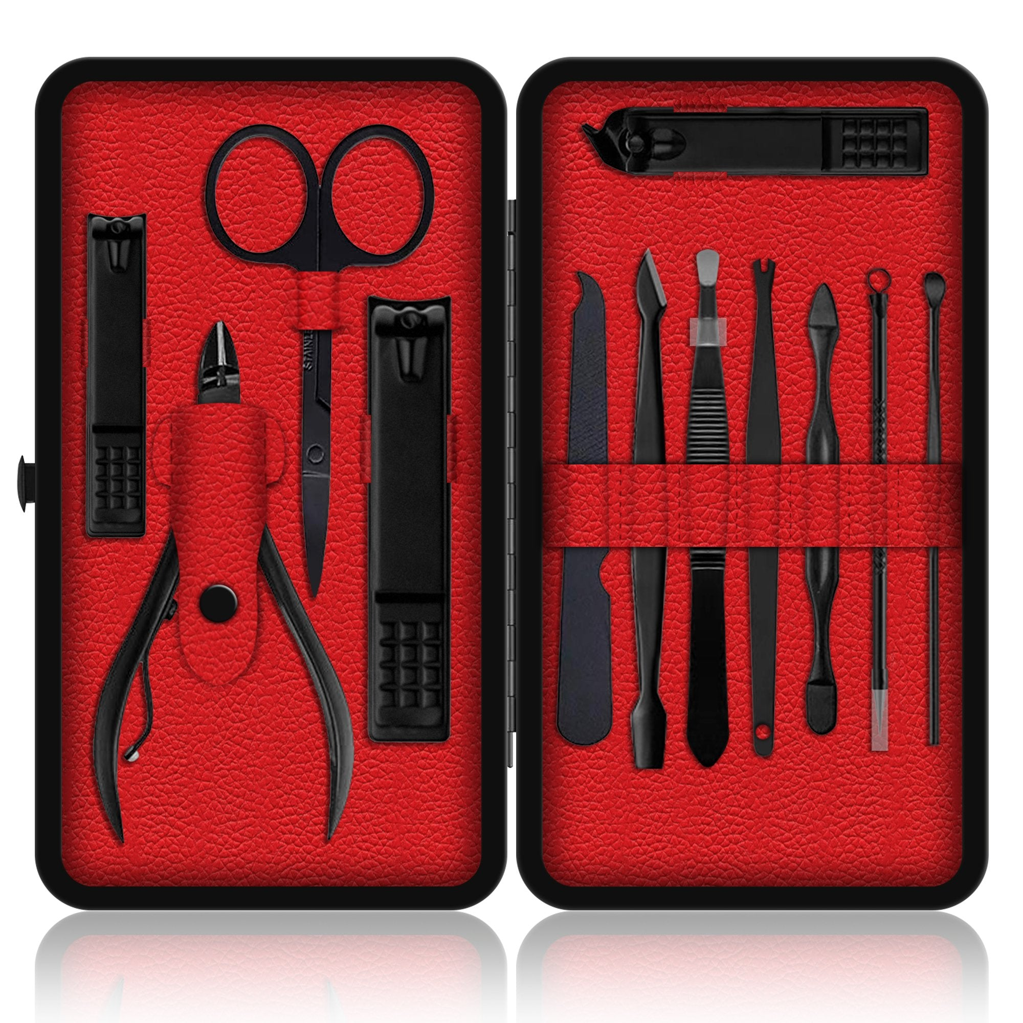 iSOUL 12 Pcs Male / Female Manicure Set Stainless Steel Professional by  iSOUL