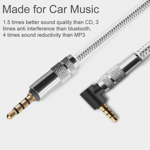1M 3.5MM JACK PLUG AUX METAL CABLE AUDIO LEAD FOR HEADPHONE/MP3/IPOD/CAR - iSOUL