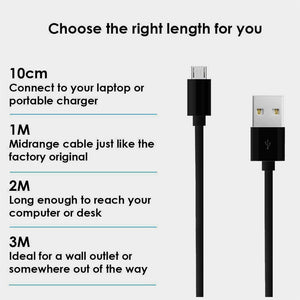 Heavy Duty Strong Extra Long Fast Charge Micro USB Extension Data Sync Charger Cable 1m 2m 3m - iSOUL