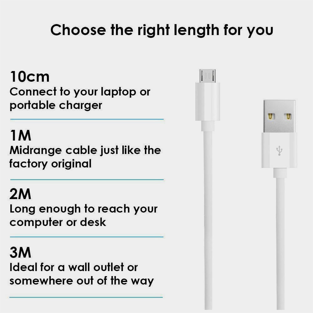 2 Meter USB Charger Cable Data Sync