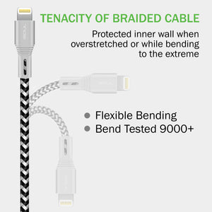 iSOUL Lightning iPhone Charger Data Cable - [Apple MFi Certified] 15cm / 1M / 2M Long Nylon Braided Lead USB Fast Charge Sync - iSOUL