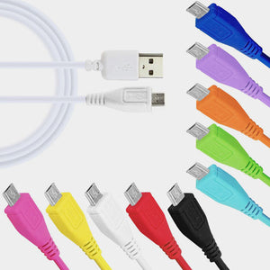 Micro USB 2.0 Data Sync Charger Cable Lead For Mobile Phones 3m Long in Unique Colours - iSOUL