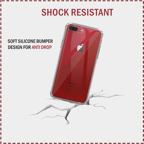 Premium Case for Apple iPhone 8 and iPhone 7, HD Clear [Shockproof Phone Cases] Anti-Scratch Bumper Back Gel & Protective Cover - iSOUL