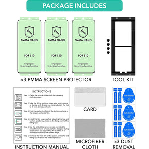 ISOUL 3 Pack Flexible Screen Protector for Samsung Galaxy S10 6.1""
