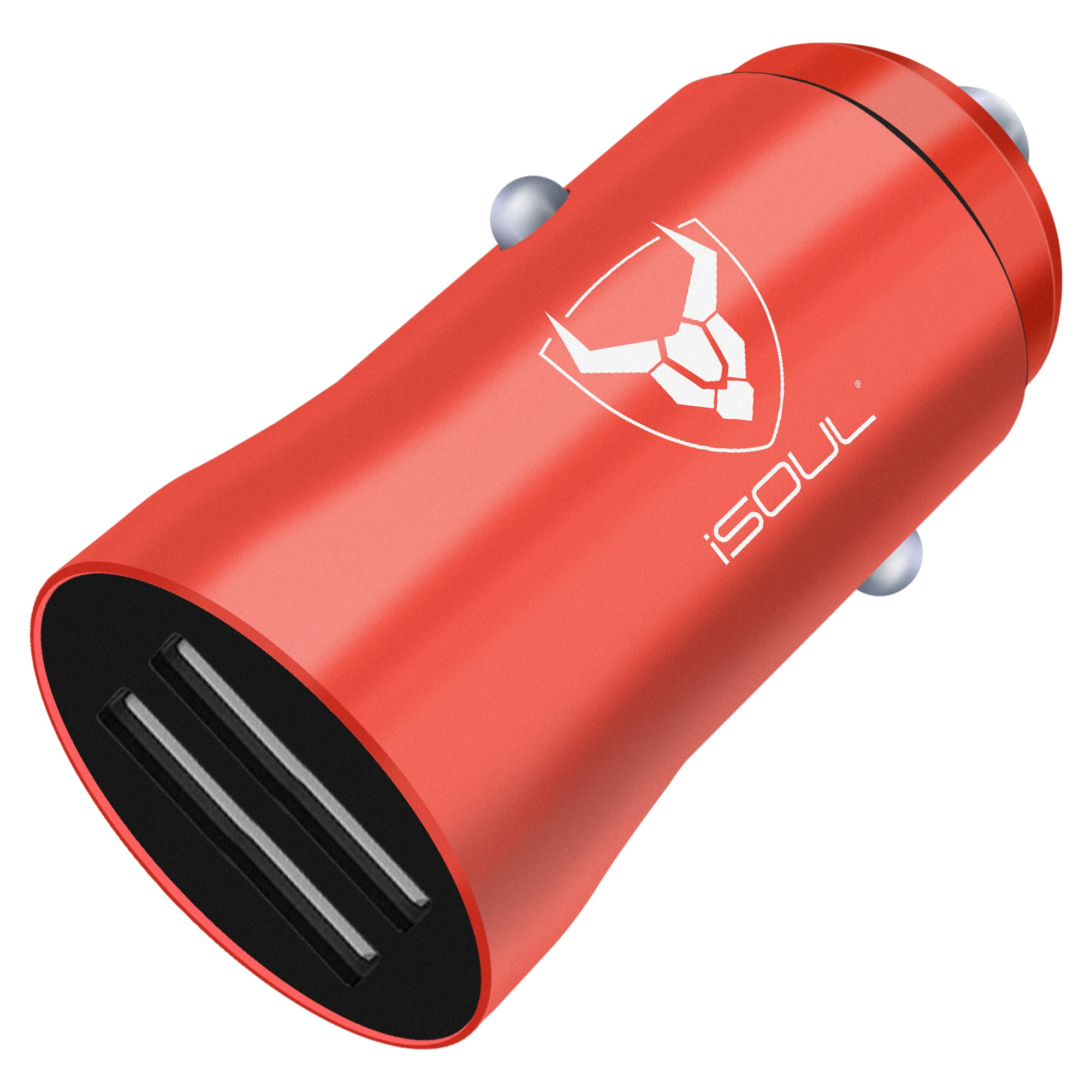 Red Car Charger, Fast Charging Dual USB 3.1A Car Phone Charger, Electronics by iSOUL