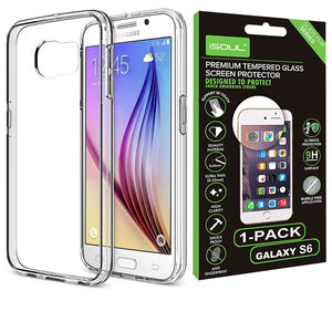 Slim Fit Gel Clear Case for Samsung Galaxy S6 - iSOUL
