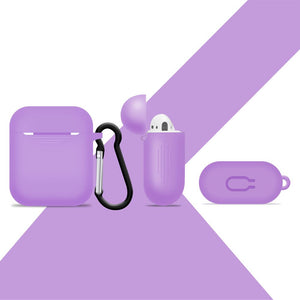 Silicone Slight Purple Airpod Case Cover - iSOUL