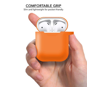 Silicone Orange Airpod Case for Airpod 1st Gen and 2nd Gen - iSOUL