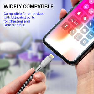 Fast Charging 2m Long Apple MFI Certified Lightning Charger Cable - iSOUL