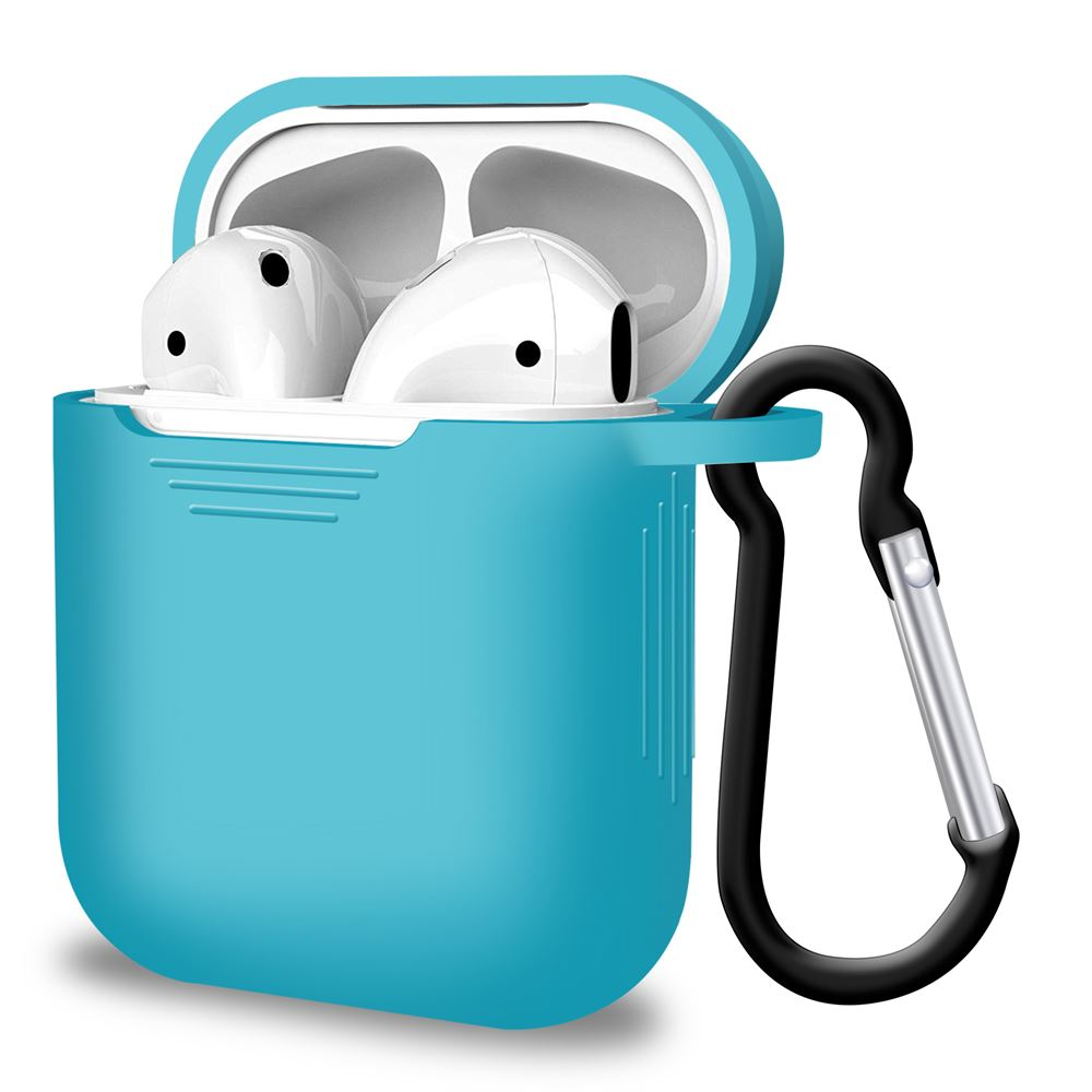 Silicone Sky Blue Airpod Case for Airpods 1st Gen and 2nd Gen, Audio Accessories by iSOUL