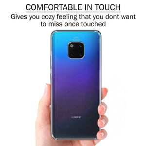 Soft Silicone TPU Gel Transparent Clear Case for Huawei Mate 20 Pro - iSOUL