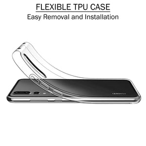 Soft Silicone TPU Gel Transparent Clear Case for Huawei P20 Pro - iSOUL