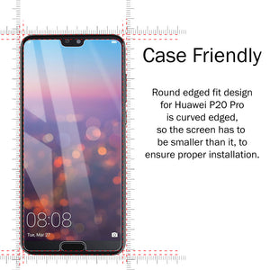 2X HD Super AMOLED Screen Protector Tempered Glass for Huawei P20 - iSOUL