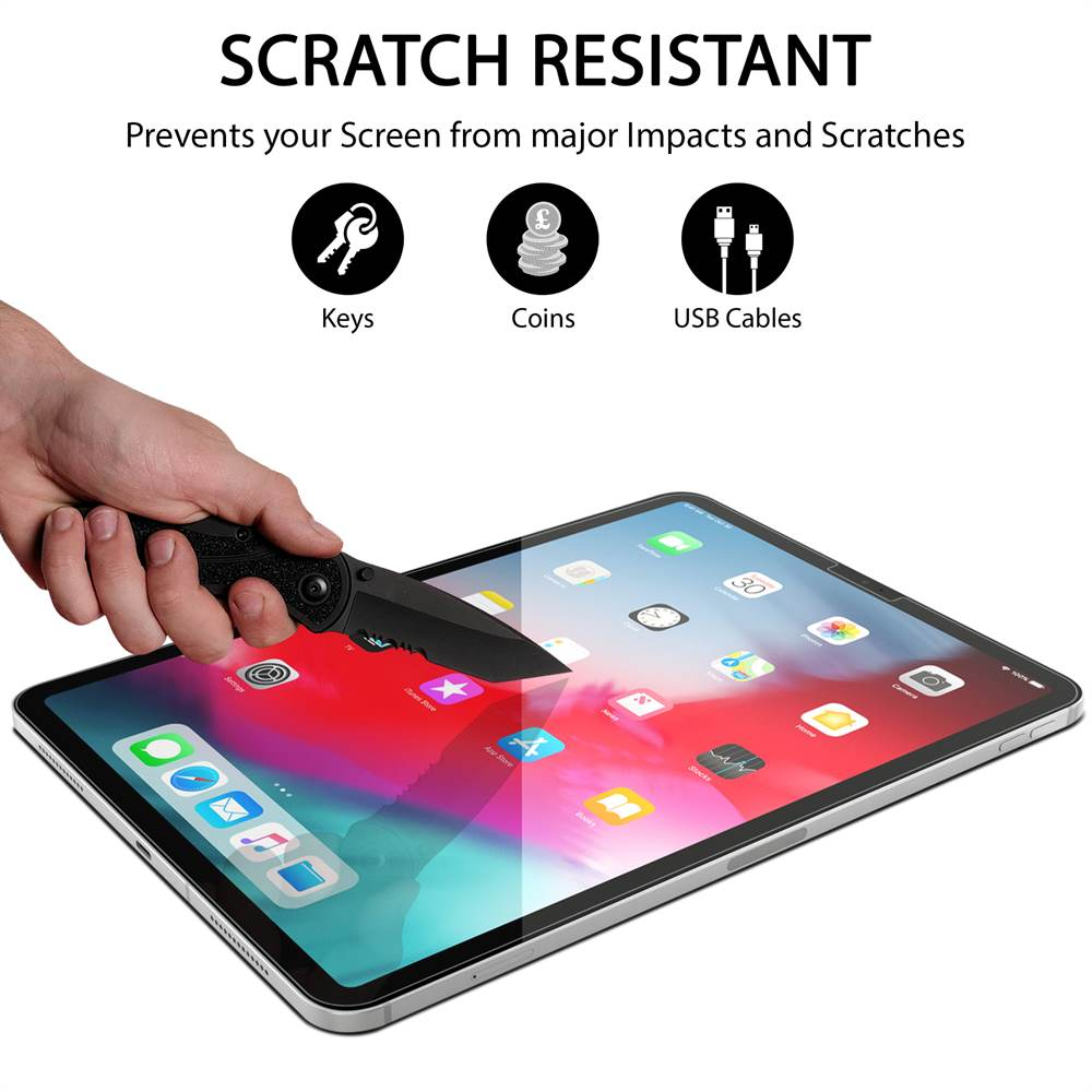 2 Pack Tempered Glass Screen Protector for iPad Pro 11 ...