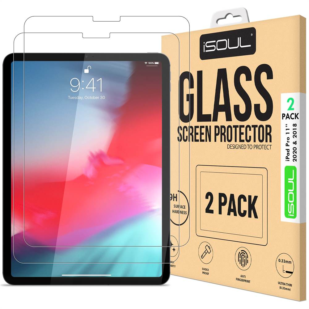 2 Pack Tempered Glass Screen Protector for iPad Pro 11