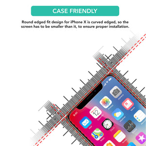 2X Best Quality Tempered Glass Screen Protector for Apple iPhone X - iSOUL