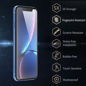 2X Screen Protector HD super AMOLED tempered Glass for Apple iPhone XR - iSOUL