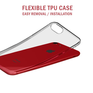 Enhanced HD Clear Transparent Gel Case for Apple iPhone 8 - iSOUL