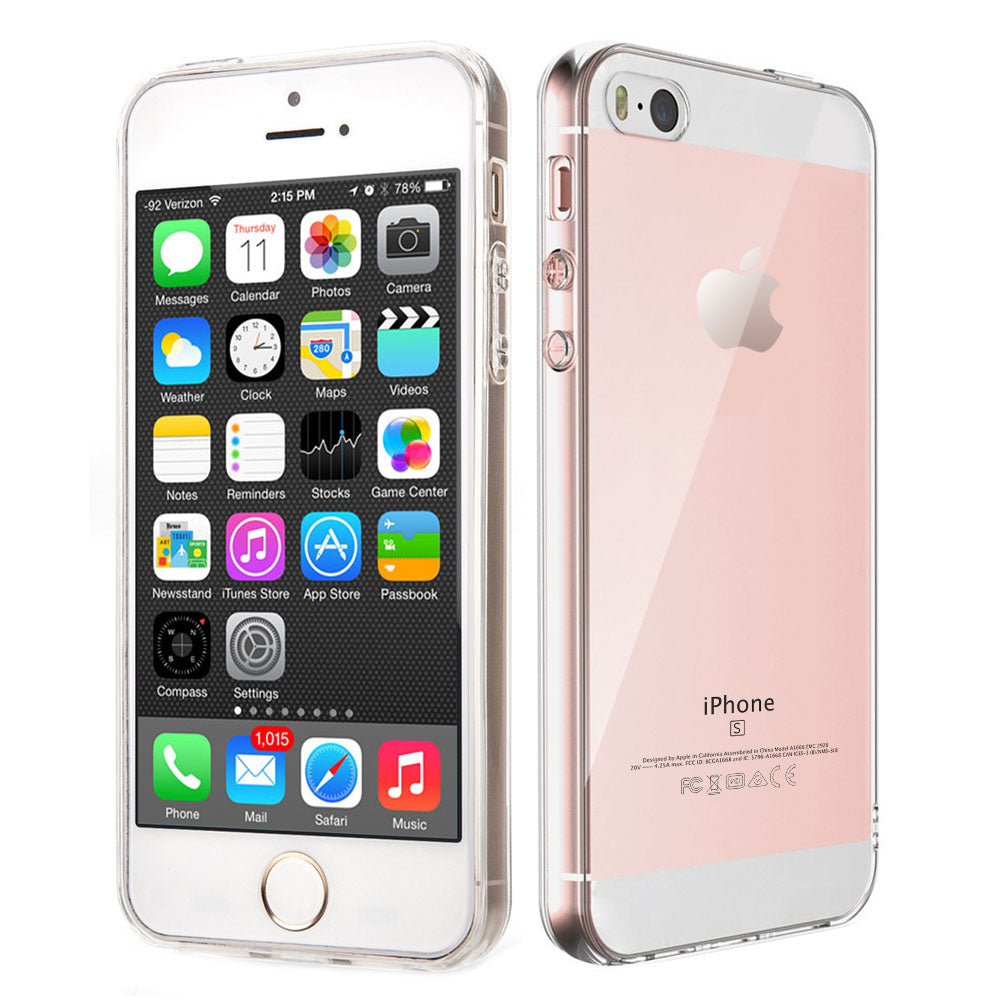 Silicone Soft Classy Protective Clear Case for Apple iPhone 5s, Electronics by iSOUL