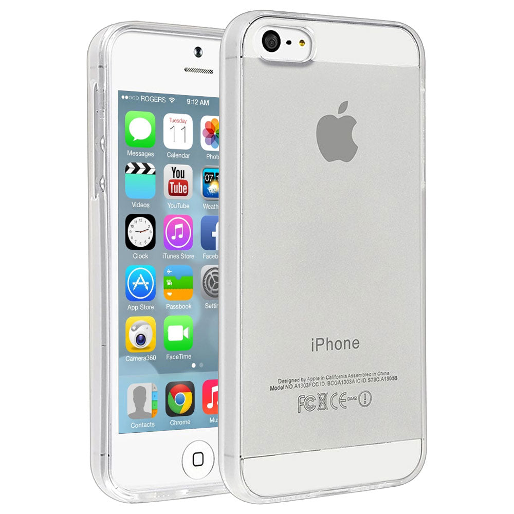 Simple Transparent Crystal Clear Case for Apple iPhone 5 by  iSOUL