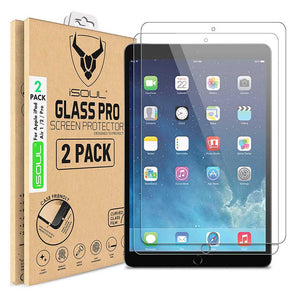 2X Tempered Glass Screen Protector for Apple iPad Air 1 / Air 2 / Air Pro 9.7 - iSOUL