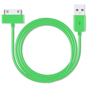 USB to 30 Pin Green 3 Metre Charger Cable for iPhone 4 - iSOUL